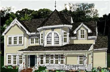 4-Bedroom, 2270 Sq Ft Victorian Home Plan - 105-1045 - Main Exterior