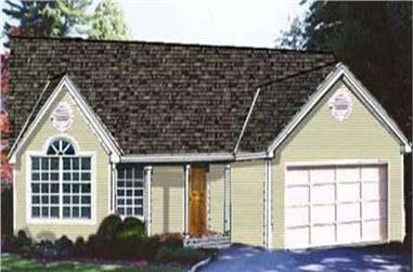 3-Bedroom, 1470 Sq Ft Country Home Plan - 105-1046 - Main Exterior