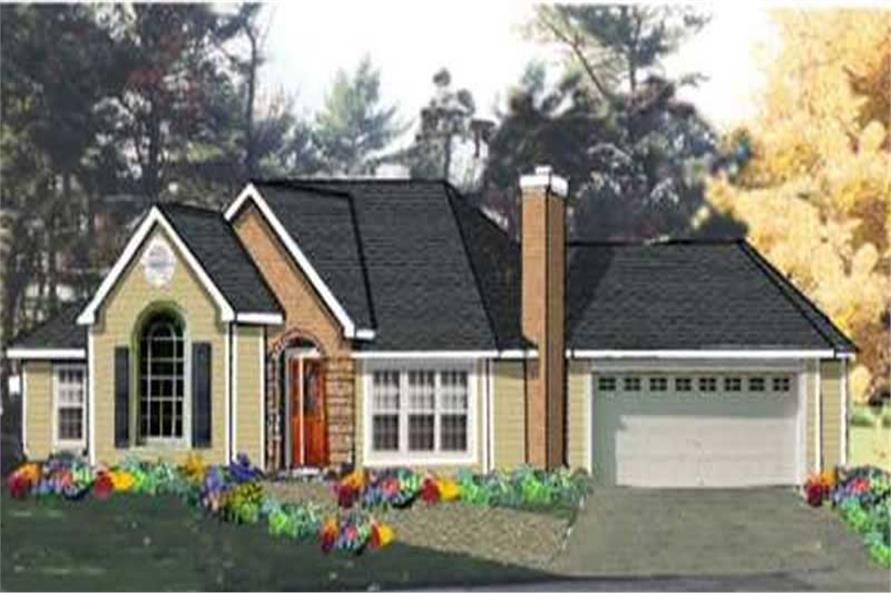 3-Bedroom, 1703 Sq Ft Ranch House Plan - 105-1047 - Front Exterior