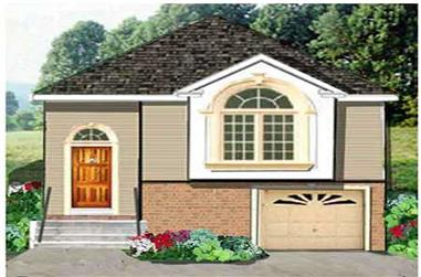 5-Bedroom, 1906 Sq Ft Multi-Level Home Plan - 105-1049 - Main Exterior