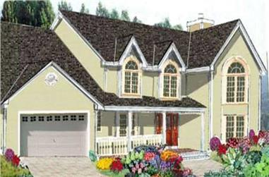5-Bedroom, 2585 Sq Ft Country Home Plan - 105-1050 - Main Exterior