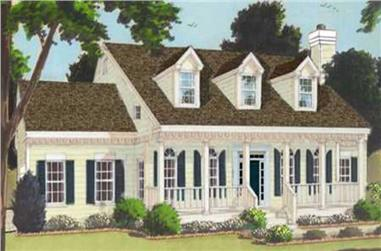 4-Bedroom, 2353 Sq Ft Country Home Plan - 105-1053 - Main Exterior