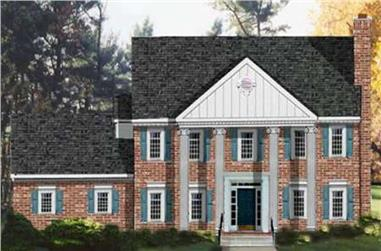 4-Bedroom, 2261 Sq Ft Colonial Home Plan - 105-1054 - Main Exterior