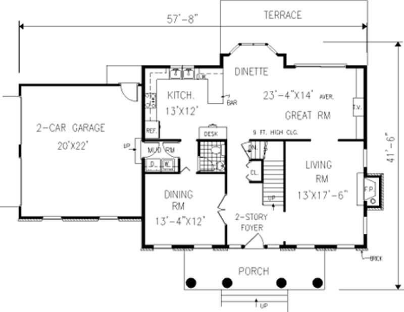 Colonial Georgian Home With 4 Bdrms 2261 Sq Ft Floor