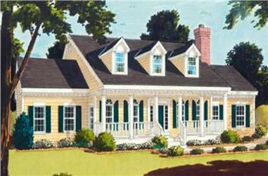 4-Bedroom, 2219 Sq Ft Country Home Plan - 105-1055 - Main Exterior