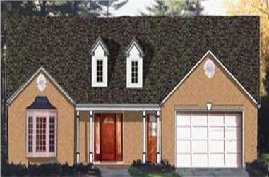 3-Bedroom, 1748 Sq Ft Country Home Plan - 105-1056 - Main Exterior