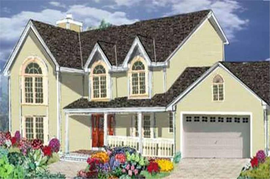 4-Bedroom, 2170 Sq Ft Colonial Home Plan - 105-1059 - Main Exterior