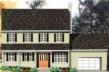4-Bedroom, 2136 Sq Ft Country Home Plan - 105-1060 - Main Exterior