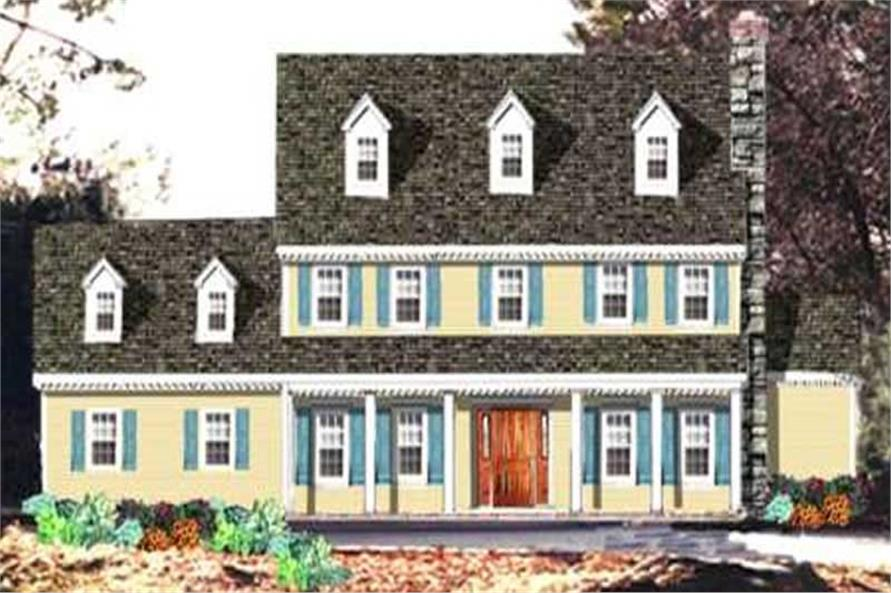 4-Bedroom, 2717 Sq Ft Colonial House Plan - 105-1062 - Front Exterior