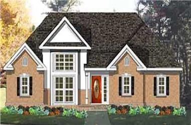 3-Bedroom, 1540 Sq Ft European Home Plan - 105-1065 - Main Exterior