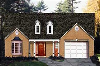 3-Bedroom, 1580 Sq Ft Country Home Plan - 105-1066 - Main Exterior