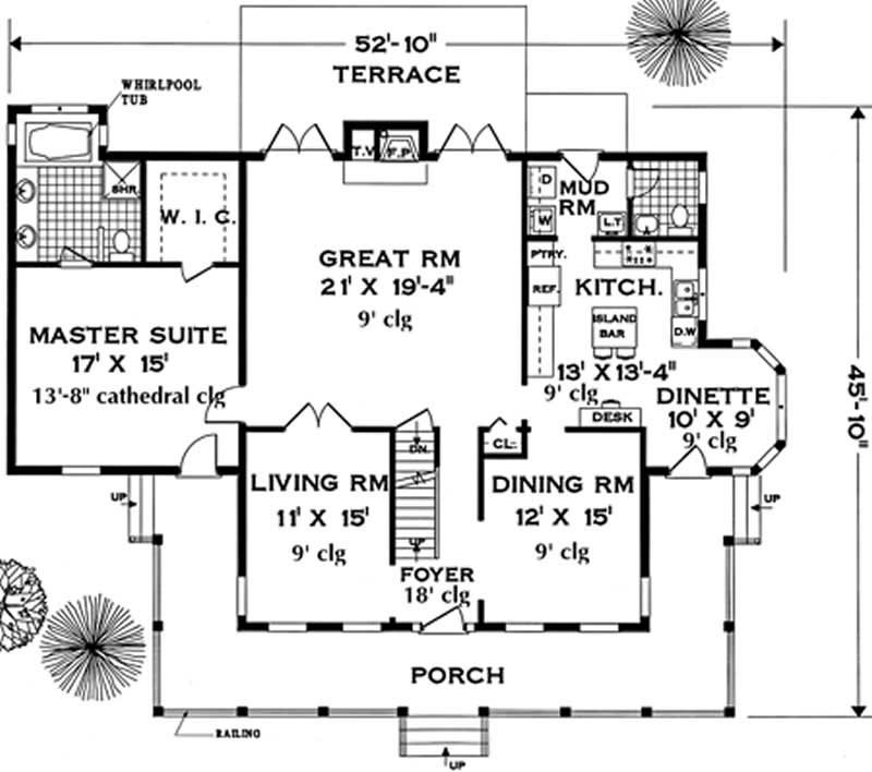 Colonial country home with 5 bdrms 2658 sq ft floor for Southern colonial floor plans