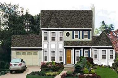 5-Bedroom, 2433 Sq Ft Country Home Plan - 105-1069 - Main Exterior