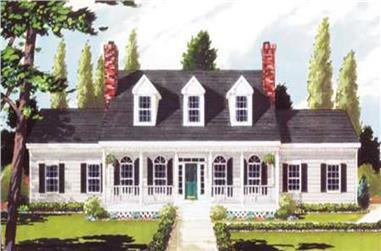 5-Bedroom, 2473 Sq Ft Country Home Plan - 105-1070 - Main Exterior