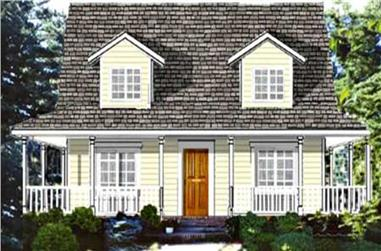 4-Bedroom, 1758 Sq Ft Country House Plan - 105-1072 - Front Exterior