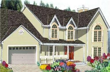 5-Bedroom, 2416 Sq Ft Country House Plan - 105-1074 - Front Exterior