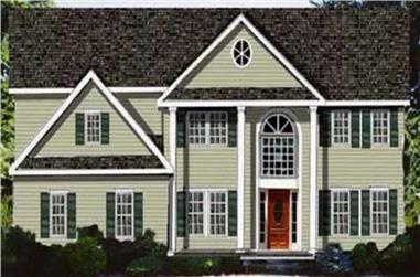 4-Bedroom, 3674 Sq Ft Colonial House Plan - 105-1075 - Front Exterior