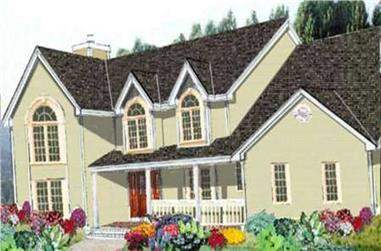 4-Bedroom, 3171 Sq Ft Country House Plan - 105-1076 - Front Exterior
