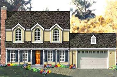 4-Bedroom, 2138 Sq Ft Country House Plan - 105-1079 - Front Exterior