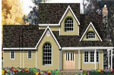 4-Bedroom, 2473 Sq Ft Country Home Plan - 105-1080 - Main Exterior