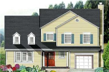 4-Bedroom, 2380 Sq Ft Country Home Plan - 105-1082 - Main Exterior