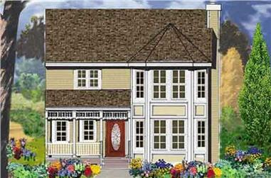 4-Bedroom, 2373 Sq Ft Country Home Plan - 105-1083 - Main Exterior