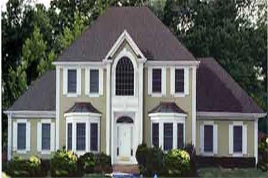 4-Bedroom, 2231 Sq Ft Colonial Home Plan - 105-1084 - Main Exterior