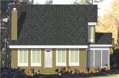 3-Bedroom, 2105 Sq Ft Colonial House Plan - 105-1085 - Front Exterior