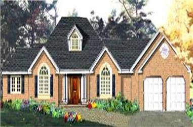 4-Bedroom, 1850 Sq Ft Country Home Plan - 105-1086 - Main Exterior