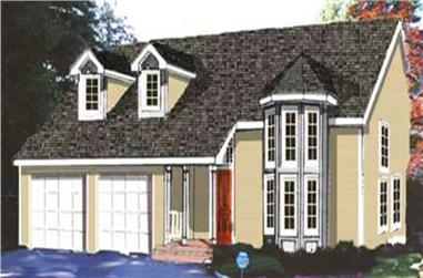 4-Bedroom, 1828 Sq Ft Traditional Home Plan - 105-1087 - Main Exterior