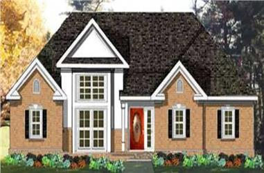 3-Bedroom, 1742 Sq Ft European Home Plan - 105-1088 - Main Exterior
