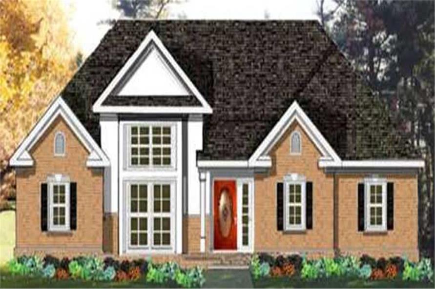 3-Bedroom, 1742 Sq Ft European Home Plan - 105-1088 - Main Exterior