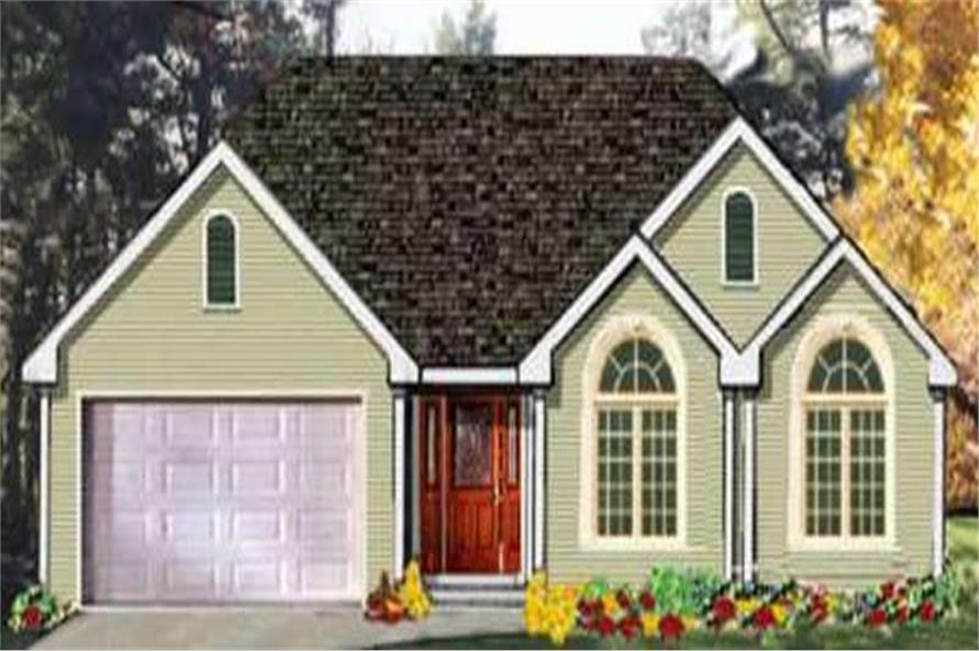 3-Bedroom, 1678 Sq Ft Ranch Home Plan - 105-1089 - Main Exterior