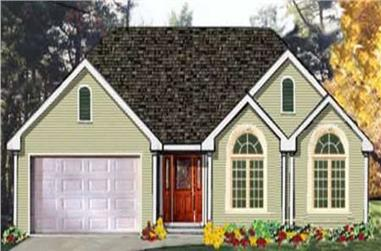 3-Bedroom, 1538 Sq Ft Ranch Home Plan - 105-1090 - Main Exterior