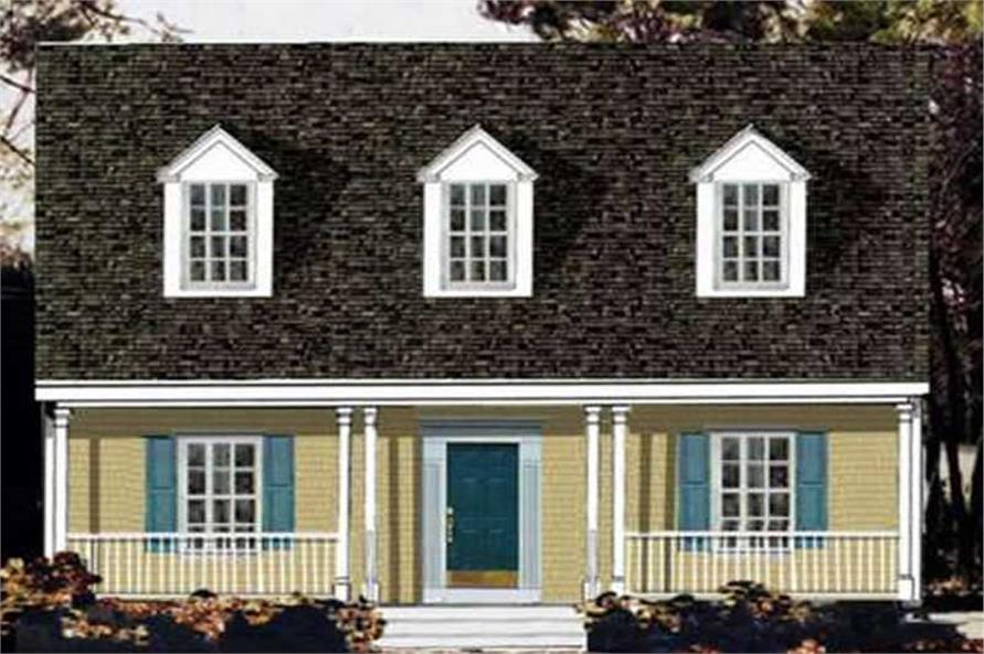 4-Bedroom, 1846 Sq Ft Country Home Plan - 105-1091 - Main Exterior