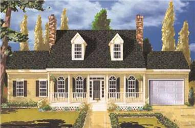 5-Bedroom, 2484 Sq Ft Country Home Plan - 105-1092 - Main Exterior