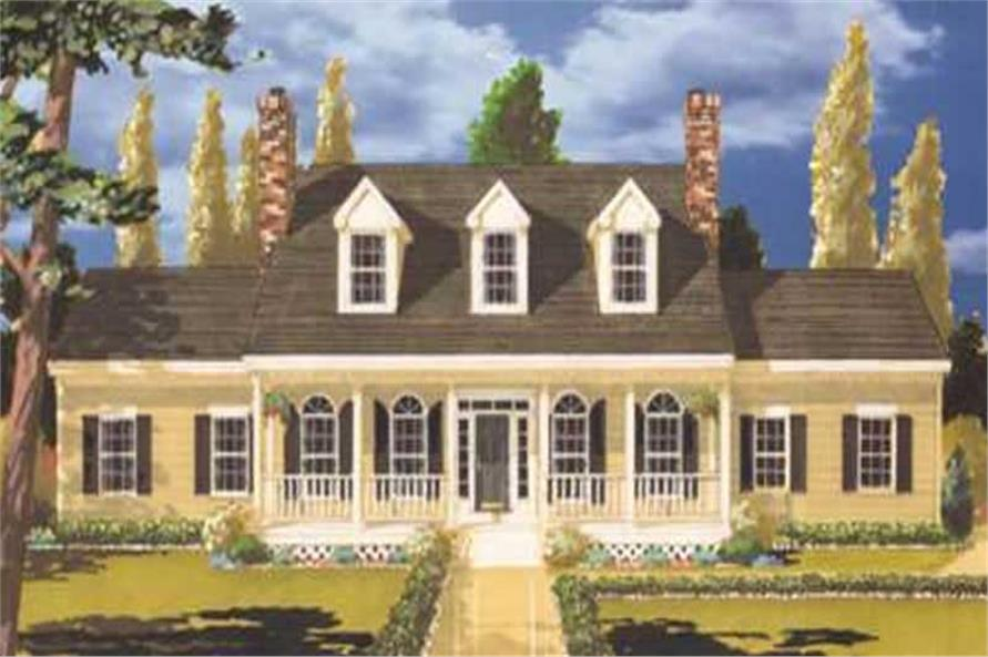 3-Bedroom, 2454 Sq Ft Colonial House Plan - 105-1093 - Front Exterior