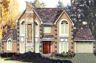 5-Bedroom, 2411 Sq Ft Traditional Home Plan - 105-1094 - Main Exterior