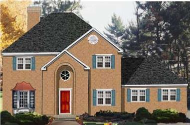4-Bedroom, 2418 Sq Ft Traditional Home Plan - 105-1095 - Main Exterior