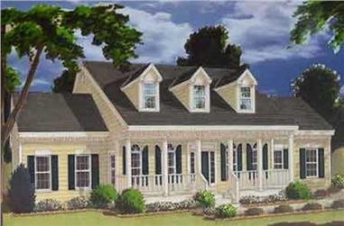 5-Bedroom, 2705 Sq Ft Colonial House Plan - 105-1096 - Front Exterior