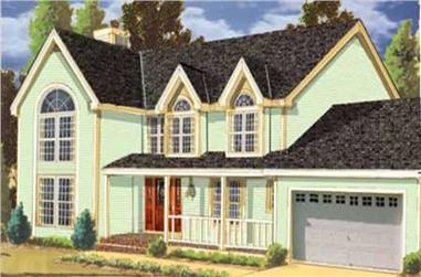 5-Bedroom, 2455 Sq Ft Country Home Plan - 105-1097 - Main Exterior