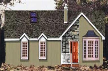 3-Bedroom, 1677 Sq Ft Country Home Plan - 105-1098 - Main Exterior