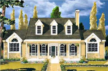 3-Bedroom, 1729 Sq Ft Colonial Home Plan - 105-1099 - Main Exterior