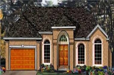 3-Bedroom, 1816 Sq Ft European Home Plan - 105-1100 - Main Exterior