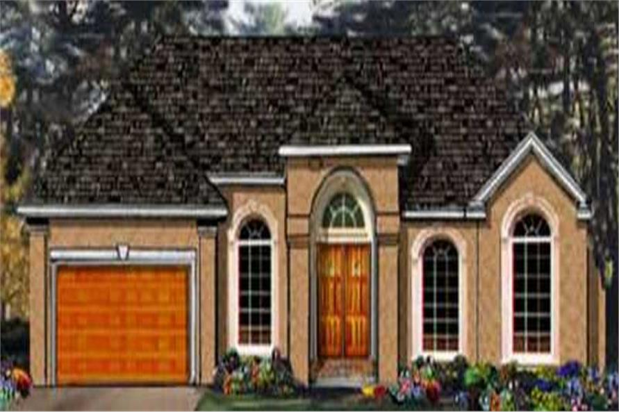 Main image for house plan # 9828