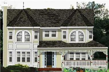 4-Bedroom, 2341 Sq Ft Country Home Plan - 105-1102 - Main Exterior