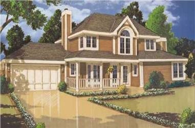 3-Bedroom, 1701 Sq Ft Country Home Plan - 105-1103 - Main Exterior