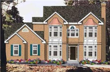 4-Bedroom, 1740 Sq Ft French House Plan - 105-1104 - Front Exterior