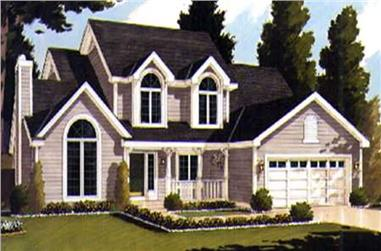 5-Bedroom, 2368 Sq Ft Country House Plan - 105-1105 - Front Exterior