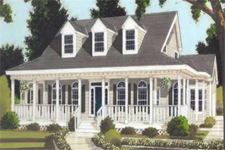 3-Bedroom, 2252 Sq Ft Colonial House Plan - 105-1106 - Front Exterior